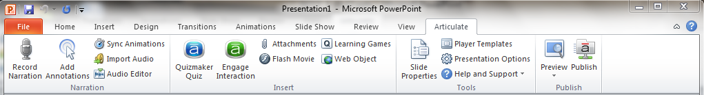 """Articulate """"ribbon"""" in PowerPoint"""