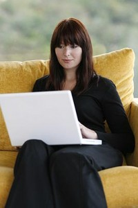 A Woman using a performance support solution