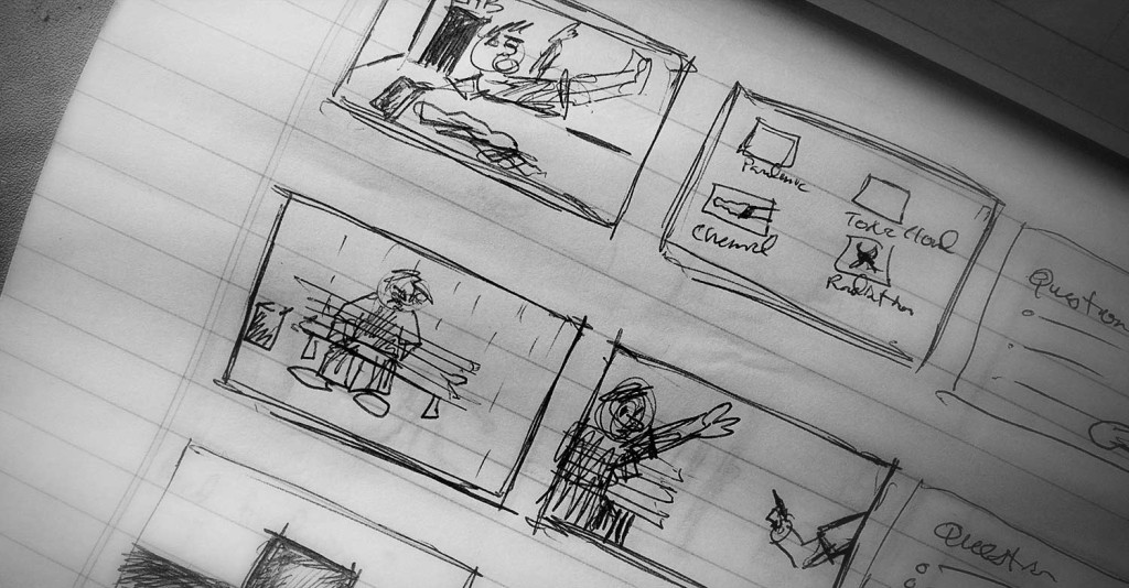 eLearning Storyboard sketch