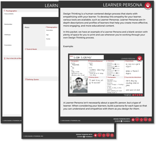 learner persona template for design thinking