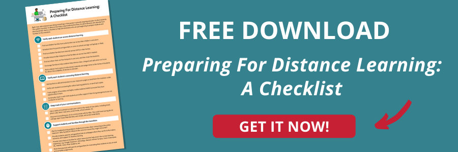 Preparing For Distance Learning Checklist