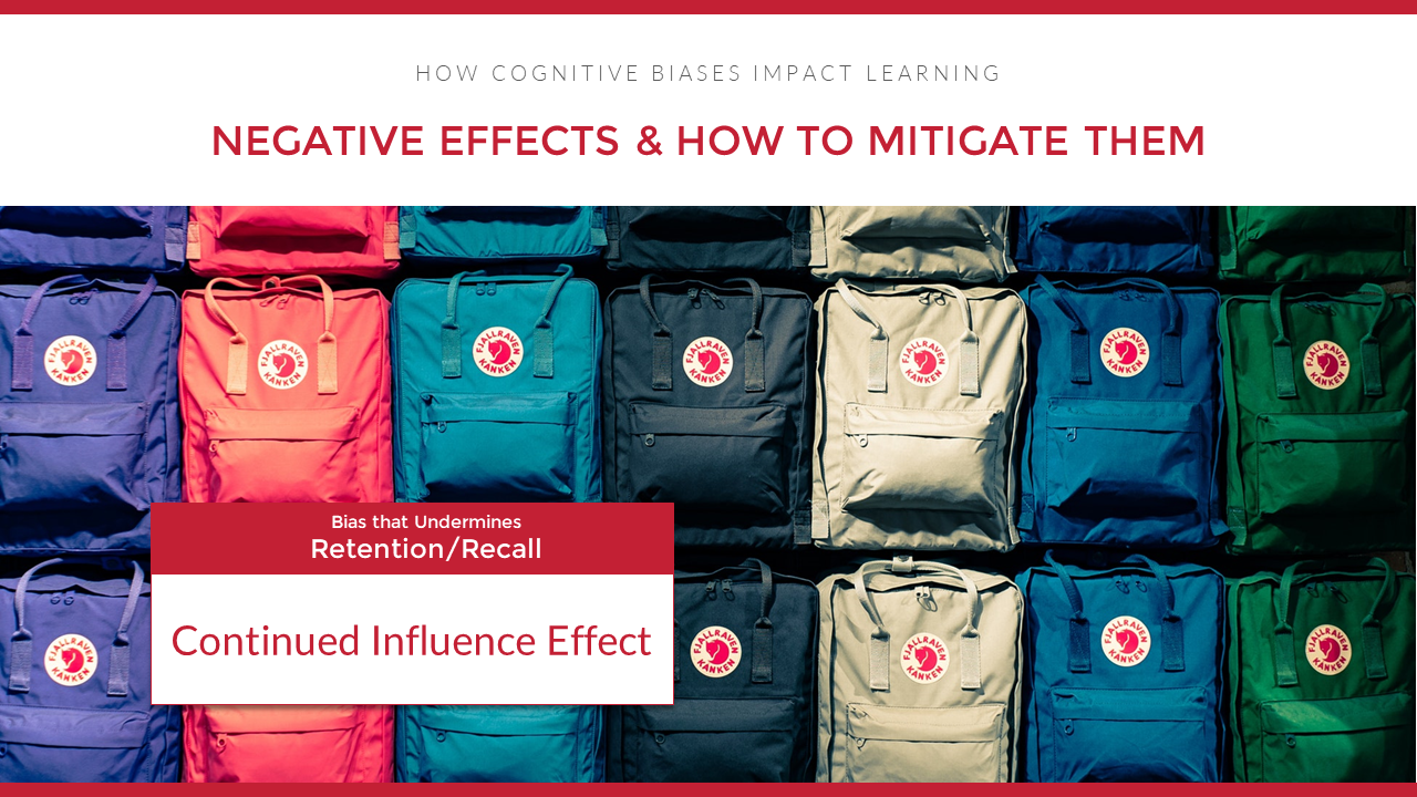 Continued Influence Bias