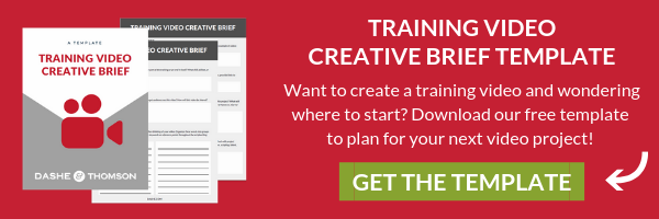 free creative brief template training video
