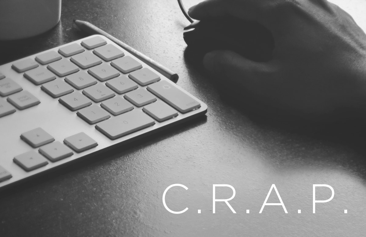 Implementing C.R.A.P. into your eLearning Design