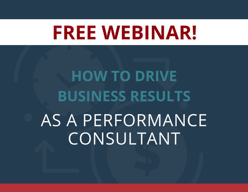How To Be a Performance Consultant