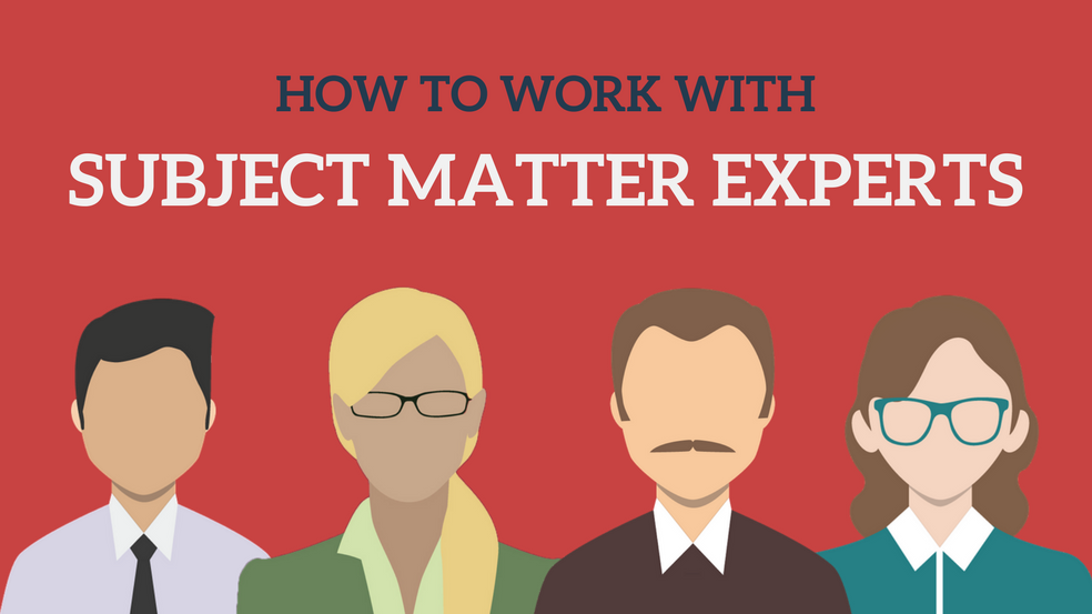 How To Work With Subject Matter Experts