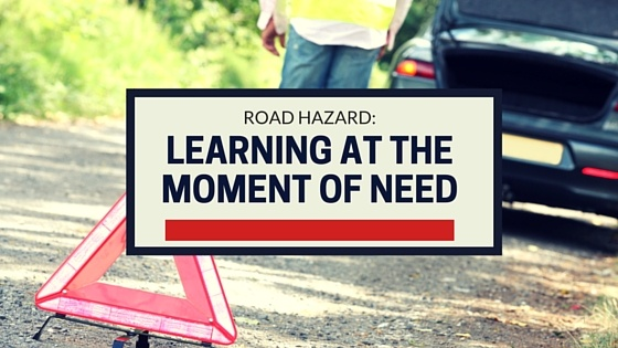 Road Hazards: Learning at the Moment of Need